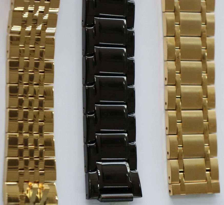 Stainless Steel Watches Chain PVD Vacuum Coating Services, Arc Plating Rose Gold Coating Service China supplier